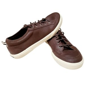 Sperry Top Siders Deckfin Brown Leather Boat Shoes